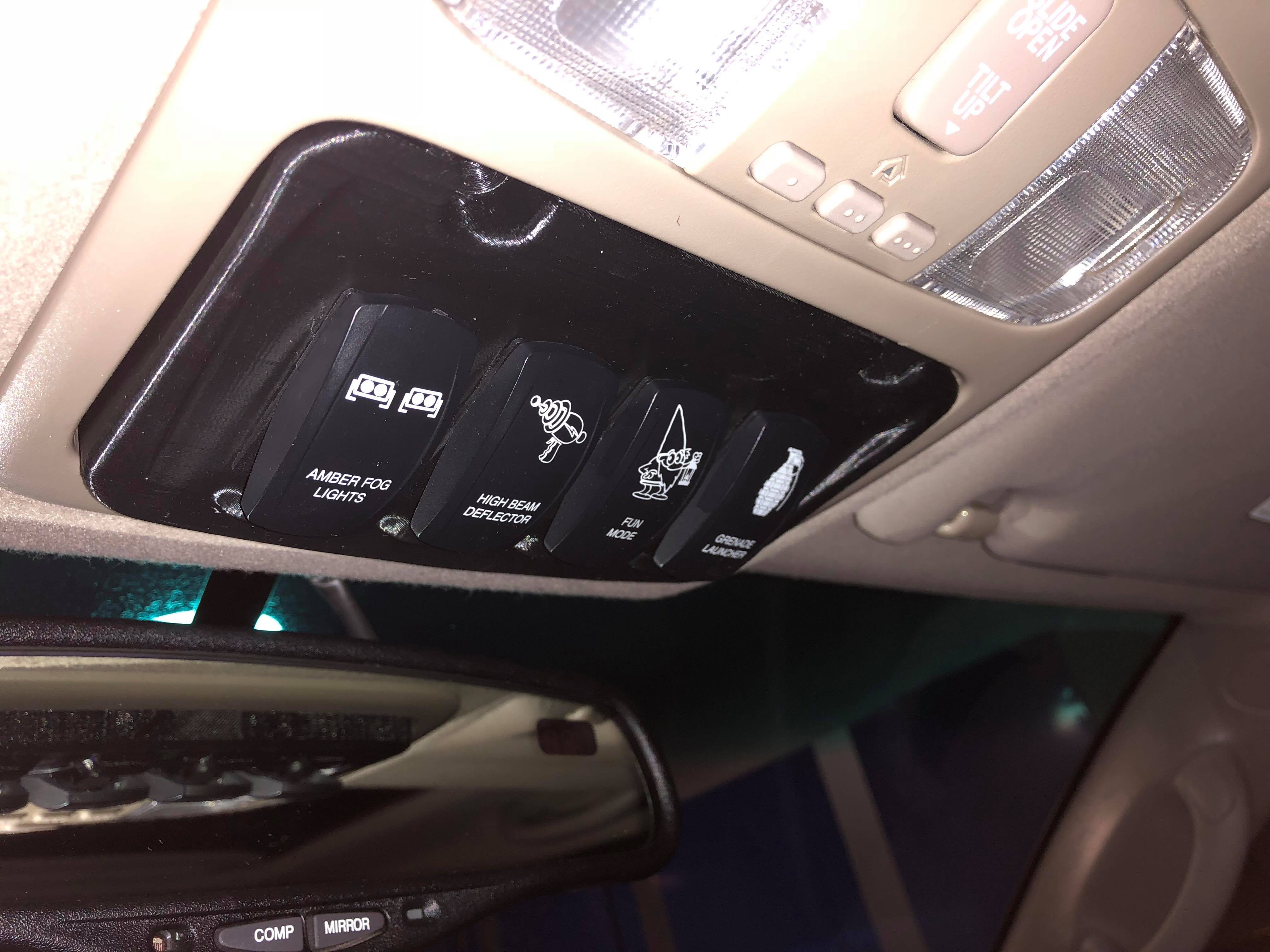 2003 2009 4runner Sunglasses Holder Switch Panel Solidshift Concepts